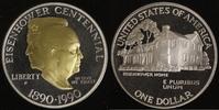 1 Dollar 1990 USA Eisenhower PP, teilvergoldet  20,00 EUR  zzgl. 5,00 EUR Versand