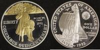 1 Dollar 1992 USA Columbus PP, teilvergoldet  20,00 EUR  zzgl. 5,00 EUR Versand
