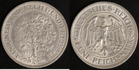 5 Mark 1932 A Weimarer Republik Eichbaum ss  95,00 EUR  zzgl. 5,00 EUR Versand