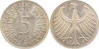 5 DM 1958 F  1958F bfr bfr  550,00 EUR kostenloser Versand