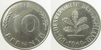 10 Pfennig 1969 F  1969F Fe Cu/Ni plattiert 3,0 gr.!!!   850,00 EUR kostenloser Versand