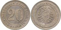 1887 F d 20Pfennig 1887F f.prfr !! f.prfr  120,00 EUR  +  8,50 EUR shipping