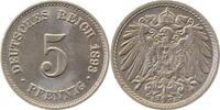5 Pfennig 1893 E  1893E prfr/stl !!!   120,00 EUR  +  10,00 EUR shipping