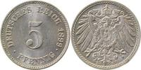 5 Pfennig 1899 E Kaiserreich 1899E prfr/stgl !!! prfr  /  stgl  105,00 EUR  +  8,50 EUR shipping