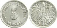 5 Pfennig 1901 G  1901G prfr/stgl !!! prfr  /  stgl  170,00 EUR  +  8,00 EUR shipping