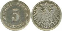 5 Pfennig 1909 J  1909J PP !!!! PP  205,00 EUR kostenloser Versand
