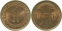 Weimarer Republik  1934 A  1 Pfennig  1934A stgl 6,00 EUR 
