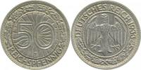 Weimarer Republik  1933 J  50 Pfennig  1933J ss/vz min. Rf. 128,00 EUR 