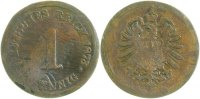 Kaiserreich  1 Pfennig  1873A s/ss starke Fehler !!