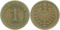 Kaiserreich  1 Pfennig  1887G s/ss