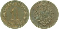 Kaiserreich  1 Pfennig  1876F ss/vz