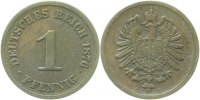 Kaiserreich  1 Pfennig  1876G ss-