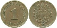 Kaiserreich  1 Pfennig  1888E vz
