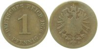 Kaiserreich  1 Pfennig  1876J s+