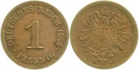 Kaiserreich  1 Pfennig  1886D fast VZ, Jaheszahl berprgt !!!