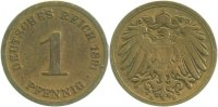 Kaiserreich  1 Pfennig  1891D s/ss