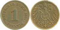 Kaiserreich  1 Pfennig  1891F vz !!!
