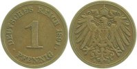 Kaiserreich  1 Pfennig  1891E ss/vz
