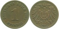 Kaiserreich  1903 G  1 Pfennig  1903G ss/vz 11,00 EUR 