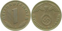 Drittes Reich  1936 F  1 Pfennig  1936F vz+