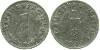 Drittes Reich  1940 E  1 Pfennig  1940E vz 7,00 EUR 
