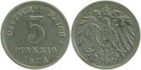 Kaiserreich  5 Pfennig  1921E f. prfr Erstabschlag (EA)! !