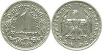 1 Reichsmark 1936 G  1936G vz/stgl vz  /  stgl  220,00 EUR  +  8,00 EUR shipping