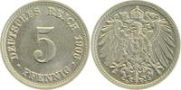 1906 D  5 Pfennig 1906D prfr prfr  28,00 EUR
