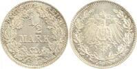 1912 D  0.5 Mark 1912D prfr/stgl EA RRR prfr  /  stgl  95,00 EUR