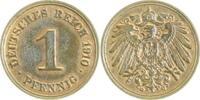 1 Pfennig 1910 G  1910G vz/st vz/st  28,00 EUR  zzgl. 6,00 EUR Versand