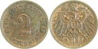 2 Pfennig 1913 G  1913G vz vz  17,00 EUR  zzgl. 6,00 EUR Versand