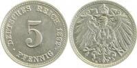 5 Pfennig 1892 D  1892D vz/stgl !!! vz  /  stgl  74,00 EUR  zzgl. 6,00 EUR Versand