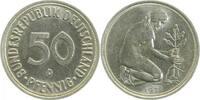 50 Pfennig 1971 D  1971D kleines Münzzeichen ss/vz ss  /  vz  32,00 EUR  zzgl. 6,00 EUR Versand