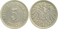 5 Pfennig 1914 E d 1914E prfr/stgl prfr  /  stgl  18,00 EUR  zzgl. 4,80 EUR Versand