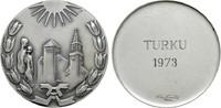 Versilberte Medaille 1973. FINNLAND 2. Republik seit 1917. Vorzüglich +  20,00 EUR  zzgl. 4,50 EUR Versand