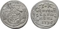 Kreuzer 1736. WÜRTTEMBERG Karl Alexander, 1733-1737. Fast vorzüglich-vo... 85,00 EUR  Excl. 7,00 EUR Verzending