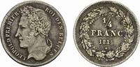 BELGIEN 1/4 Franc 1834. Sehr sch&ouml;n. K&Ouml;NIGREICH BELGIEN Leopold I., 1830-... 95,00 EUR 