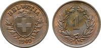 Ku.-Rappen 1909, B. SCHWEIZ  Fleck. Fast Stempelglanz.  40,00 EUR  Excl. 6,70 EUR Verzending
