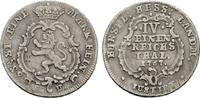 1/4 Reichstaler 1767. HESSEN Friedrich II., 1760-1785. Sehr schön.  90,00 EUR  zzgl. 4,50 EUR Versand
