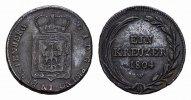 Ku.-1 Kreuzer 1804. FÜRSTENBERG Karl Joachim, 1796-1804. Fast vorzüglic... 85,00 EUR  excl. 6,70 EUR verzending