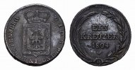 Ku.-1 Kreuzer 1804. FÜRSTENBERG Karl Joachim, 1796-1804. Fast vorzüglic... 85,00 EUR  zzgl. 4,50 EUR Versand