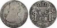 8 Reales 1808. BOLIVIEN Carlos III., 1759-1788. Kleine Dellen im Feld, ... 85,00 EUR  Excl. 6,70 EUR Verzending