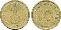 10 Reichspfennig 1938, G: DRITTES REICH  Vs. Kl.Flecken. Stempelglanz  22,00 EUR  Excl. 7,00 EUR Verzending