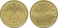 10 Reichspfennig 1937, A. DRITTES REICH  Stempelglanz.  19,00 EUR  Excl. 6,70 EUR Verzending