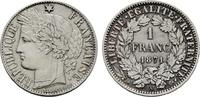 Franc 1871, A. FRANKREICH 3. Republik, 1870-1940. Fast Stempelglanz.  160,00 EUR  excl. 6,70 EUR verzending