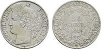 50 Centimes 1873, A. FRANKREICH 3. Republik, 1870-1940. Vorzüglich +  145,00 EUR  excl. 6,70 EUR verzending