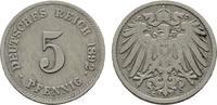 5 Pfennig 1892, G. Deutsches Reich  Sehr schön.  20,00 EUR  Excl. 6,70 EUR Verzending