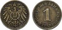 1 Pfennig 1905, J. Deutsches Reich  Sehr schön.  10,00 EUR  Excl. 6,70 EUR Verzending