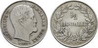 1/2 Rigsdaler 1855. DÄNEMARK Frederik VII., 1848-1863. Sehr schön - vor... 95,00 EUR