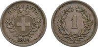 Rappen 1904, B. SCHWEIZ  Vorzüglich +  60,00 EUR  Excl. 6,70 EUR Verzending